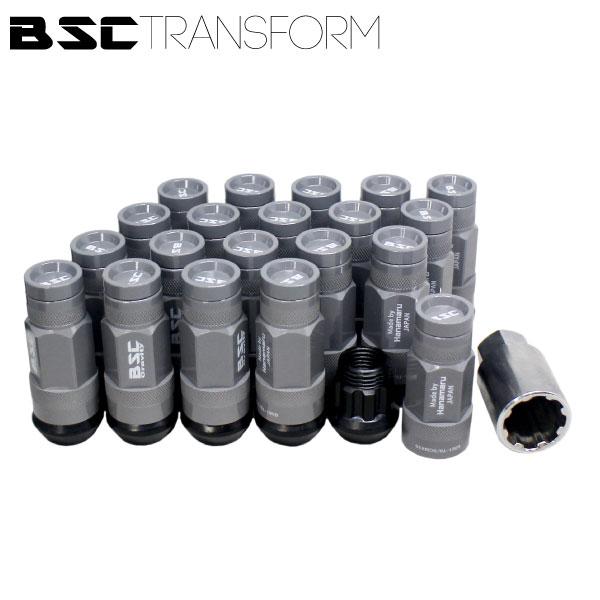 BSCトランスフォームナット 20本セット【ミリタリーグレー】M14・M12