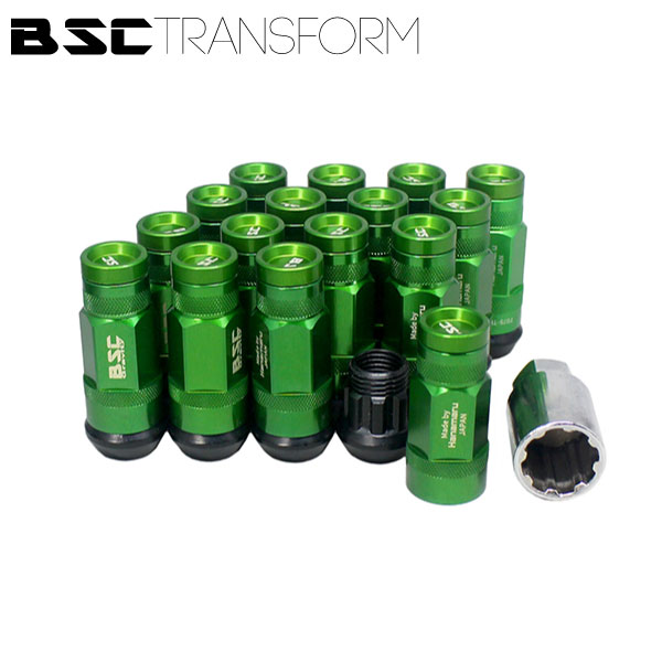 BSCトランスフォームナット 16本セット【グリーン】M12