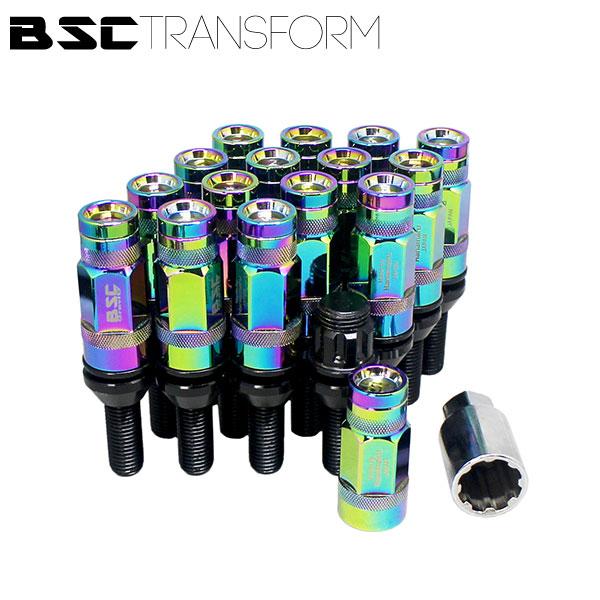 BSCトランスフォームボルト 16本セット【ネオクローム】M12 x P1.5