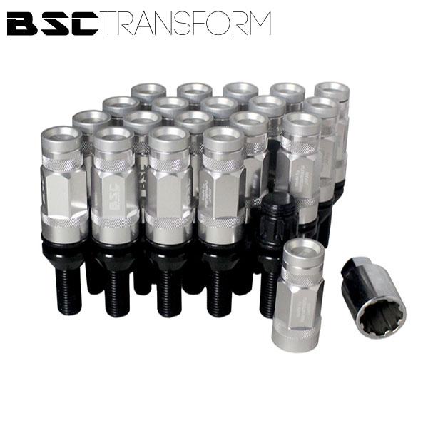 BSCトランスフォームボルト 20本セット【マットシルバー】M14
