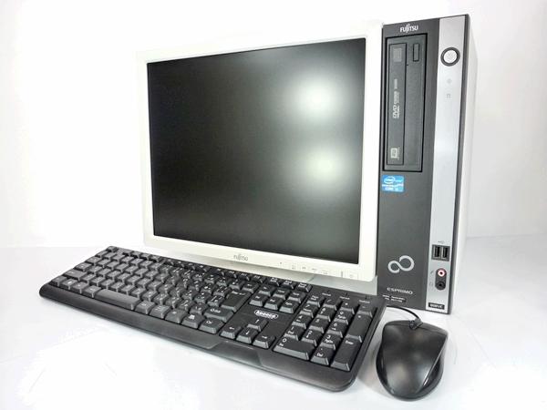 中古パソコン 【Windows10】[F99D7] 富士通 ESPRIMO D551/D (Core i3 2120 3.3GHz 3GB 250GB Win10 Pro 64bit) 17インチ液晶セット【中古デスクトップ】【デスクトップ】【PC】【中古】