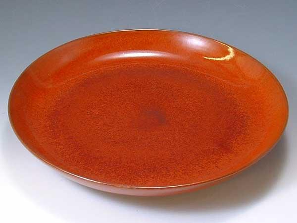 京焼・清水焼 皿 PMC024 柿釉(かきゆう) 尺皿【送料無料】