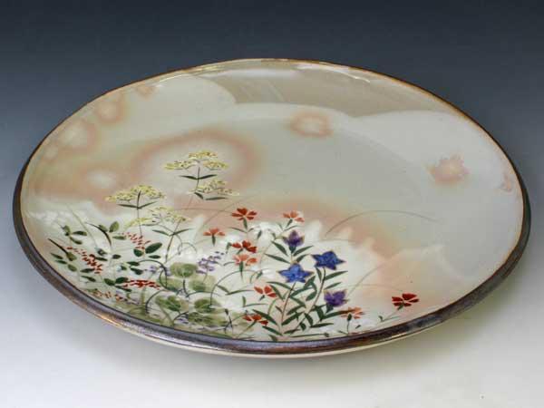 (税込) 京焼・清水焼 皿 PSK680 京の秋 尺皿【送料無料】, ふとんの玉手箱 2ecbec69
