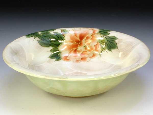 京焼・清水焼 鉢 トウア637 牡丹(ぼたん) 七寸鉢【送料無料】