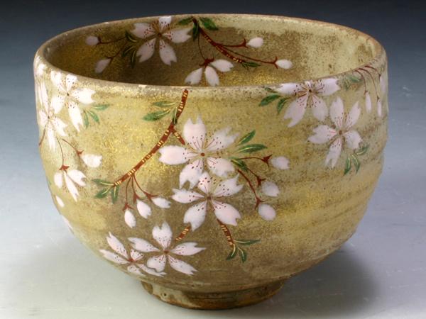 京焼・清水焼 抹茶碗 TSM660 舞い桜