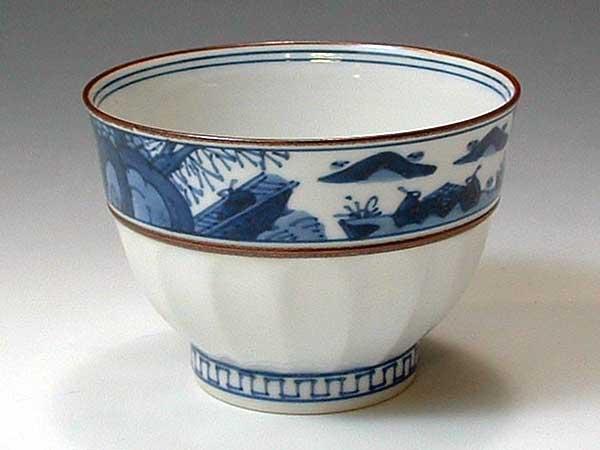 京焼・清水焼 お茶呑茶碗 QIX325 帯山水 5客セット