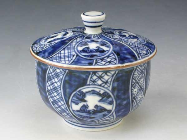 京焼・清水焼 お茶呑茶碗 QHM367 丸紋祥瑞 蓋付 5客セット