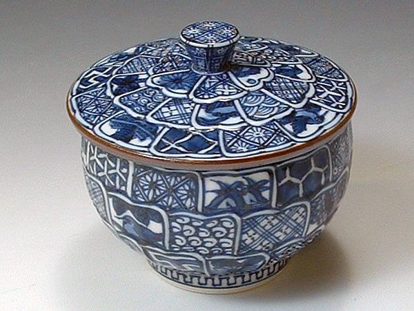 京焼・清水焼 お茶呑茶碗 QIX004 菊彫祥瑞 蓋付 5客セット