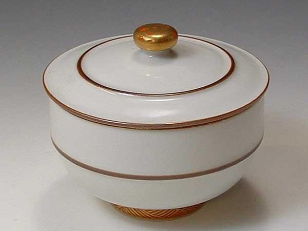 京焼・清水焼 お茶呑茶碗 QVY016 優雅 蓋付 5客セット