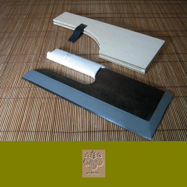 麺切り包丁 鋼付黒  ひも巻き 30cm