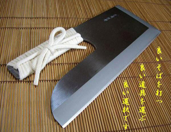 麺切り包丁  ステンレス30センチ ひも巻 雄山