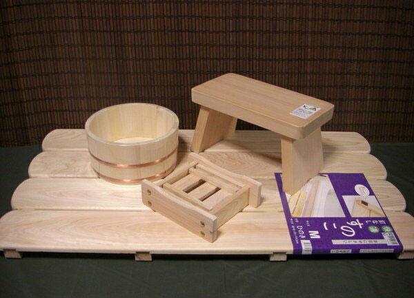 木の香 お風呂道具4点セット すのこMタイプ