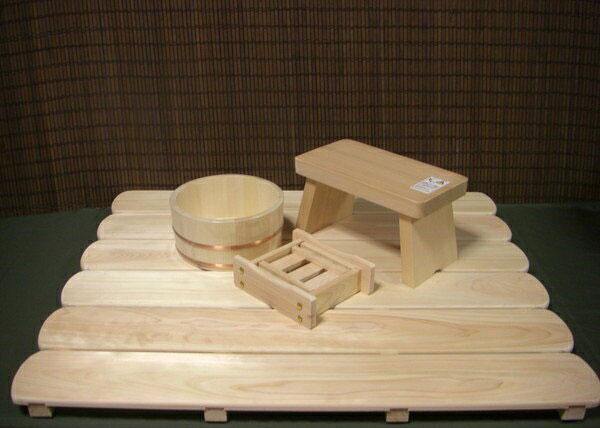 木の香 お風呂道具4点セット すのこLLタイプ