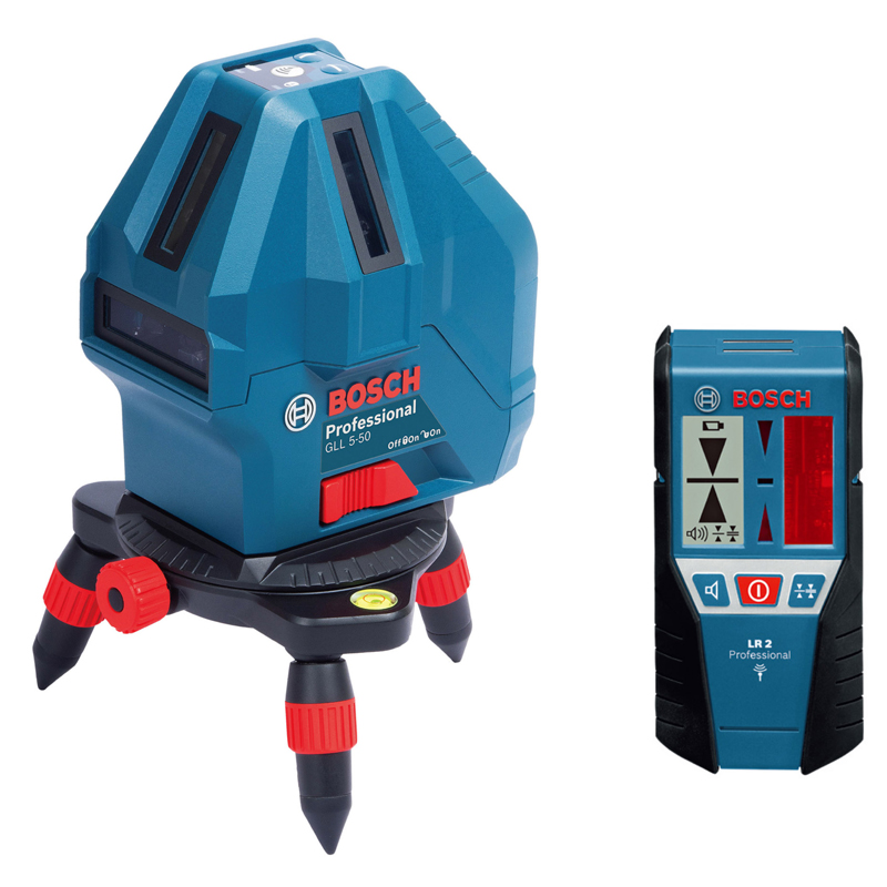 ボッシュ(BOSCH) レーザー墨出し器 GLL5-50XSET 受光器、キャリングバッグ付き