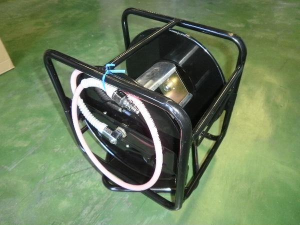 回転台付き十川 高圧用 ホースリール 30M 空リール