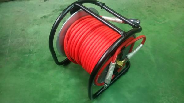 マッハ 高圧用 釘打機 エアードラム 6.0mm×30m BUD-630C ※画像にホースは赤色ですがお送りするのは青色のホースに成ります。