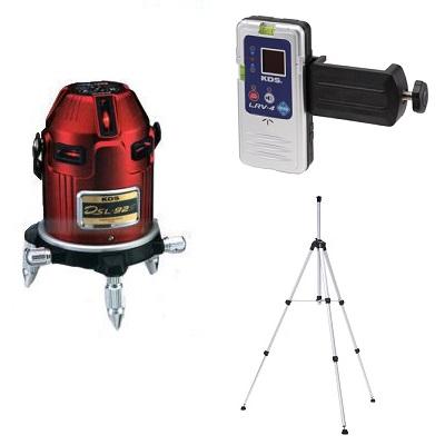 ムラテックKDS 電子整準高輝度レーザー墨出し器 DSL-92SRSAN 受光器・三脚付 1年間完全保証付き!