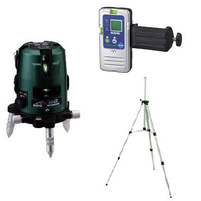 ムラテックKDS 高輝度グリーンレーザー墨出機 ATL-55GRSA 受光器・三脚付 1年間完全保証付き!