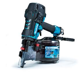 品質満点 高圧エア釘打機 マキタ (エアダス付き):e-tool AN935HM 90mm 青-DIY・工具