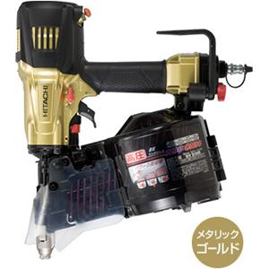 送料無料(沖縄、離島除く)日立 高圧ロール釘打機 NV90HR ゴールド 90mm