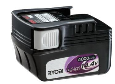 リョービ リチウムイオンバッテリー B-1440Lスライドタイプ 64064314.0Ah 4000mAh