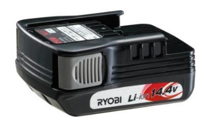 リョービ リチウムイオンバッテリー B-1415L 電池スライドタイプ 6406391 14.4V 1.5Ah 1500mAh