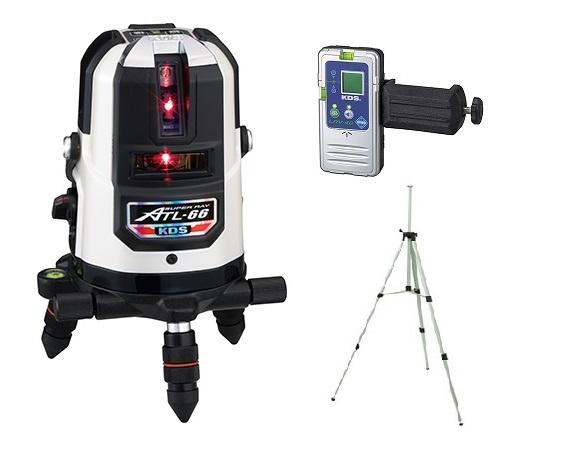 ムラテックKDS 高輝度レーザー墨出器 ATL-66RSA 受光器+三脚 セット 輝度スーパーレイ