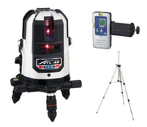 ムラテックKDS 高輝度レーザー墨出器 ATL-46RSA 受光器+三脚 高輝度スーパーレイ