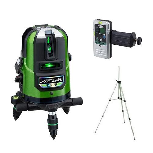 ムラテックKDS 高輝度リアルグリーンレーザー墨出器 ATL-66RGRSA 三脚+受光器付 セット