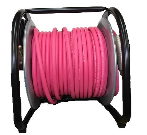 フジマック 高圧用 エアードラム W17PD-630C 釘打機 6.0mm×30m ピンク 限定色 マッハ 回転台なし