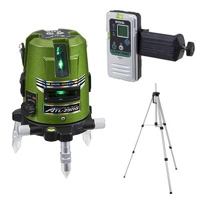 ムラテックKDS 墨出し器 ATL-25RGRSA 受光器LRV-4GD+三脚セット グリーンレーザー