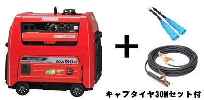在庫有り!送料無料!(沖縄、離島・北海道除く)新ダイワ(やまびこ) エンジン発電 溶接機 EGW190M-IST 30mキャプタイヤコード付 ウエルダー 純正ケーブルセット!