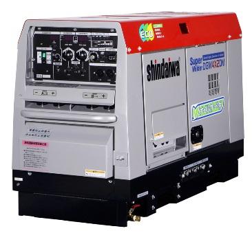 送料無料!!(但し、沖縄・離島除く)新ダイワ(やまびこ) 発電機 兼用 溶接機 DGW4X2DM 車輪無 溶接棒φ4mm