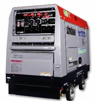 送料無料!!(但し、沖縄・離島除く)新ダイワ(やまびこ) 発電機 兼用 溶接機 DGW4X2DM 車輪付 溶接棒φ4mm