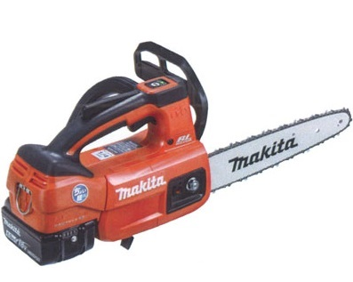 マキタ(makita) 充電式チェンソー MUC254DGNR 赤 ガイドバー250mm 18V 6.0Ah(バッテリ2本・充電器付)