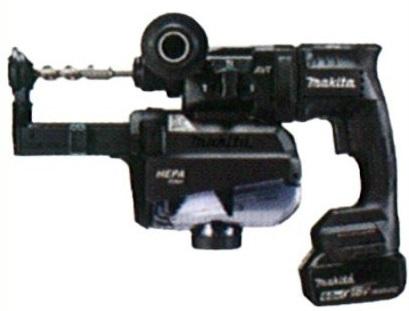 マキタ(makita) 充電式ハンマドリル HR182DGXVB 黒 18mm 18V 6.0h(バッテリ2本・充電器・ケース付) 集じんシステム付