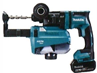 マキタ(makita) 充電式ハンマドリル HR182DRGXV 青 18mm 18V 6.0h(バッテリ2本・充電器・ケース付) 集じんシステム付