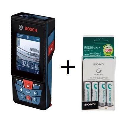 ボッシュ(BOSCH) レーザー距離計 GLM150C J データ転送 レーザー距離計 GLM150CJ 充電式ニッケル水素単3形電池(単3形×4本)付