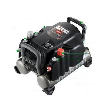 送料無料(沖縄、離島除く)日立 高圧エアコンプレッサ EC1433H 高圧・一般圧用 常圧ハイコーキ