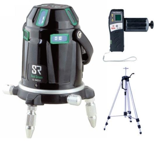 マイゾックスG-440SR リアルグリーンレーザー墨出器 本体セット(受光器・三脚付)MYZOX