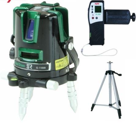 マイゾックス レーザー墨出器 G-110SR(本体セット・受光器・エレベーター三脚付)グリーン MYZOX