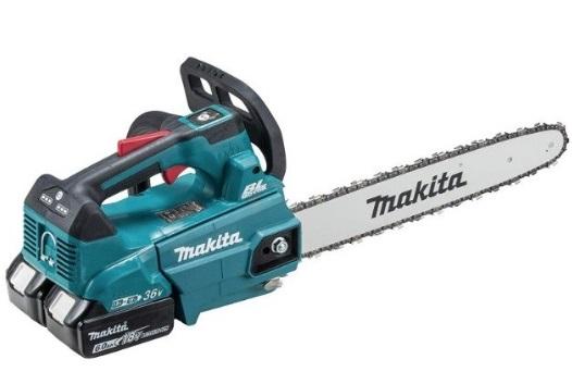 マキタ MUC356DGF 充電式チェンソー 青 (バッテリBL1860Bx2本+2口急速充電器付) ガイドバー350mm 25AP-76E 18V+18V=36V makita