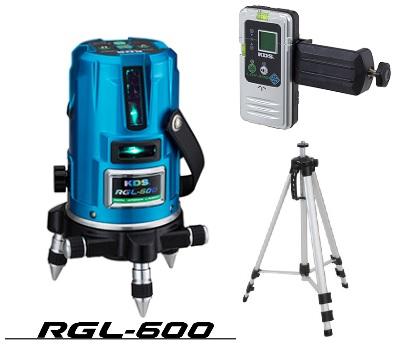 ムラテックKDS RGL-600RSA 墨出器 セット品(受光器・クランプ・三脚付) 単3電池 AC100V