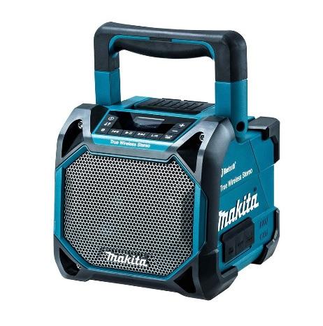 マキタ MR203 青 充電式スピーカ 本体のみ Bluetooth対応 (AC100V・10.8V・14.4V・18V) makita