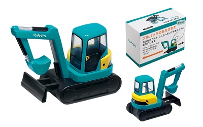 Four points of Kubota pull back car tractor / combine / rice-transplanting  machine / mini-background Ho agricultural machine luxurious set minicar toy