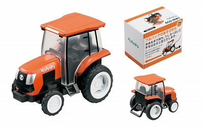Three points of Kubota tractor combine rice-transplanting machine pull back  car agricultural machine luxurious set minicar toy chola Q