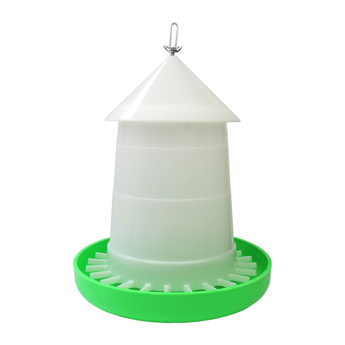 【(屋根付き)給餌量調節機能付き】鳥用自動給餌器 容量5kg【ニワトリ・ウコッケイ・キジ類用】