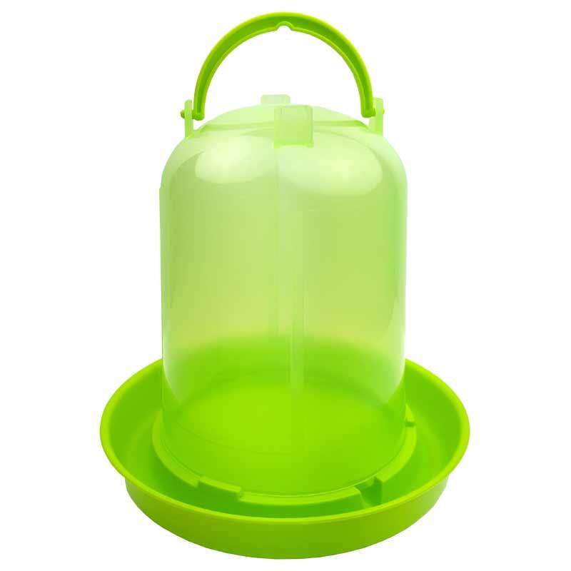 店舗 鳥用の給水器で半透明のタンクのため残りの水が確認しやすい 少数飼育用 超人気 専門店 チャボ ウコッケイ 鳥用自動給水器 容量5L キジ類用 緑スケルトン ニワトリ