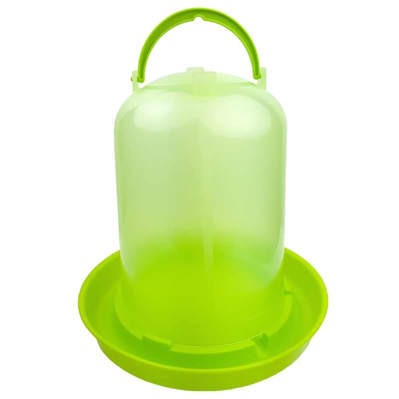 半透明で残水量一目瞭然 セットアップ チャボ ウコッケイ 鳥用自動給水器 容量10L 緑スケルトン ニワトリ 年末年始大決算 キジ類用