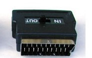 メーカー公式ショップ COMON メーカー在庫限り品 カモン SCART21ピン⇔S端子変換 RCA×3 L R I 21P-R34SW O Video SW付